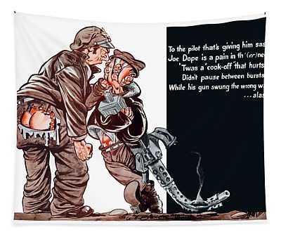 Wwii Joe Dope Cartoon Tapestry