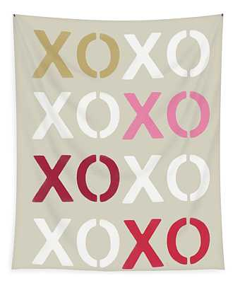 Xoxo- Art By Linda Woods Tapestry