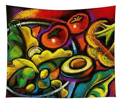 Yammy Salad Tapestry