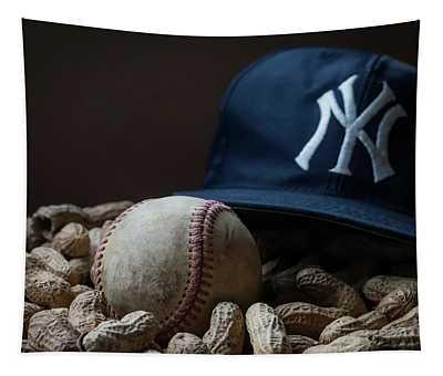 Yankee Cap Baseball And Peanuts Tapestry