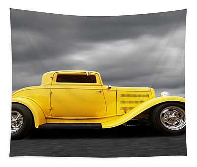 Yellow 32 Ford Deuce Coupe Tapestry