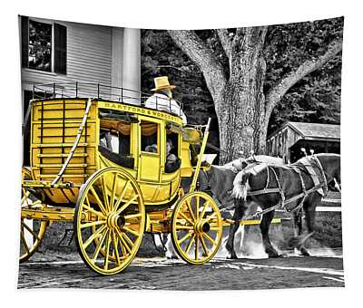 Yellow Carriage Tapestry