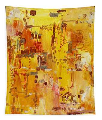 Yellow Conundrum Tapestry