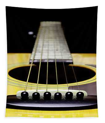 Yellow Guitar 17 Tapestry