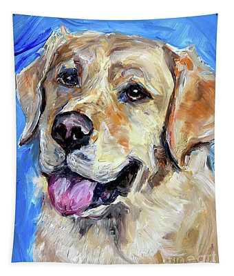 Yellow Labrador  Tapestry