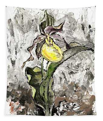 Yellow Lady's Slipper Tapestry