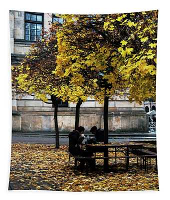 Yellow Lunch Tapestry