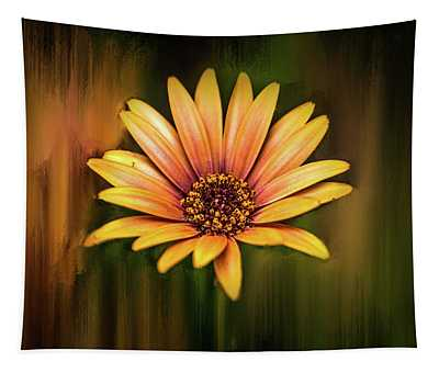 Yellow On Abstract #h1 Tapestry