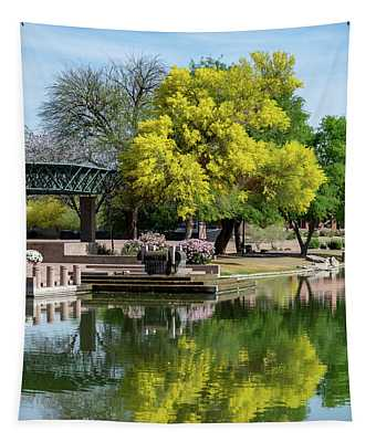 Yellow Reflection Tapestry