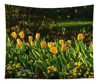 Yellow Spring Fever Tapestry
