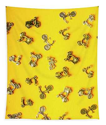 Yellow Summer Transport Tapestry