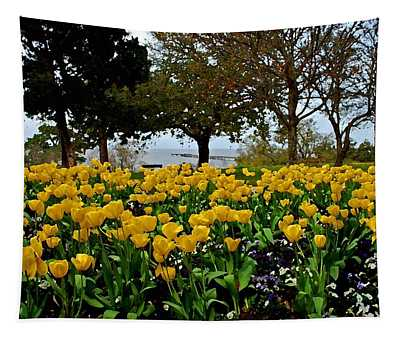 Yellow Tulips Of Fairhope Alabama Tapestry