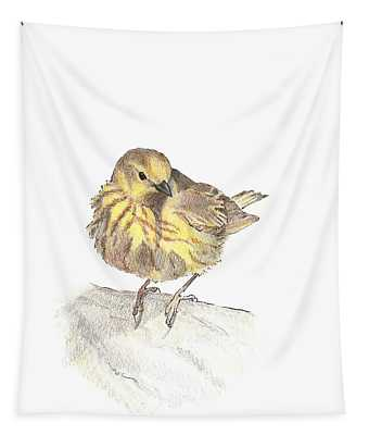 Yellow Warbler Tapestry