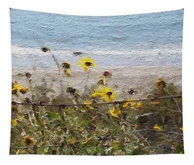 Yellow Wildflowers- Art By Linda Woods Tapestry