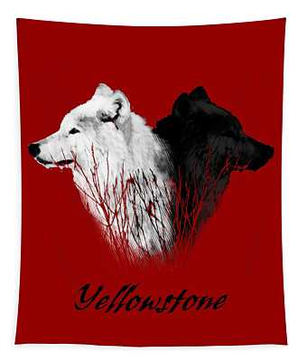 Yellowstone Wolves T-shirt Tapestry