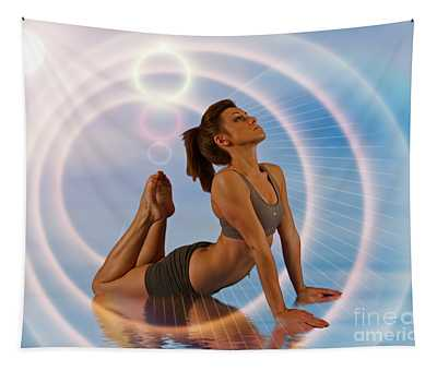Yoga Girl 1209206 Tapestry
