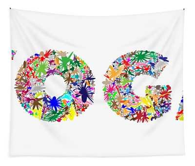 Yoga Word Art Tapestry
