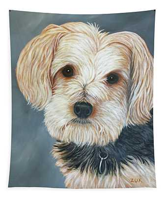 Yorkie Portrait Tapestry