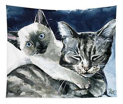 You Are Mine - Cat Painting Tapestry