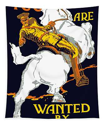 You Are Wanted By Us Army Tapestry