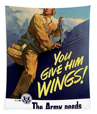 You Give Him Wings - Ww2 Tapestry