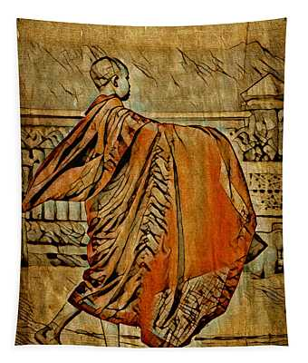 Young Buddhist Monk Tapestry