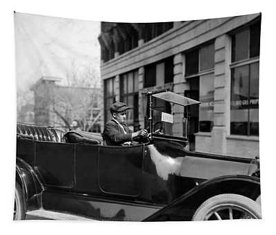 Young Chauffeur - Oklahoma City - 1917 Tapestry