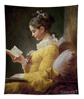 Young Girl Reading Tapestry