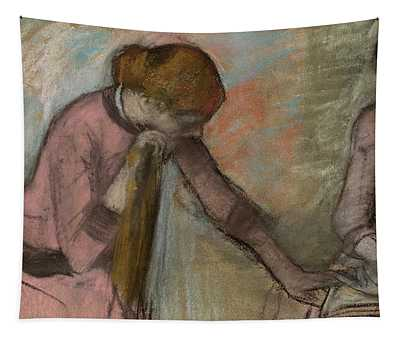 Young Girls Looking At An Album Tapestry