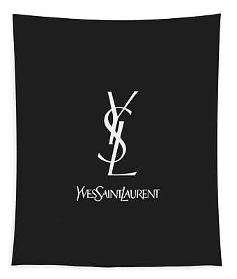 Yves Saint Laurent - Ysl - Black And White 02 - Lifestyle And Fashion Tapestry