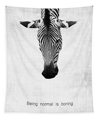 Zebra Being Normal Is Boring Tapestry