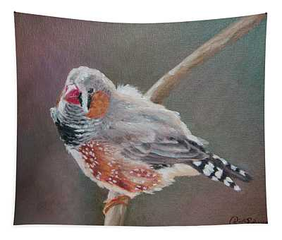 Zebra Finch Tapestry