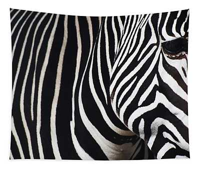 Zebra Close-up Tapestry