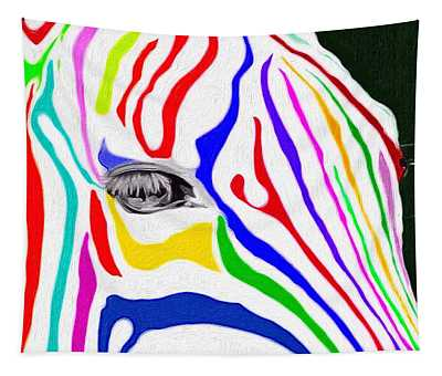 Zebra Nothing Is Black And White Tapestry
