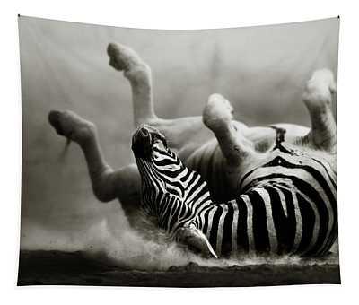 Zebra Rolling Tapestry