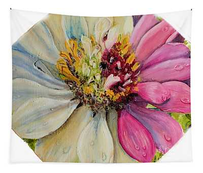 Zippy Zinnia Tapestry