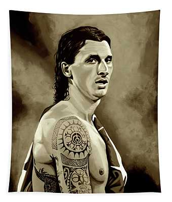 Zlatan Ibrahimovic Sepia Tapestry
