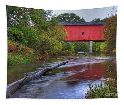 Zumbrota Minnesota Historic Covered Bridge 5 Tapestry