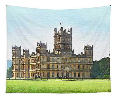 A View Of Highclere Castle Tapestry