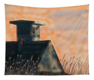 Abandoned Pea Island Life Saving Station  Tapestry