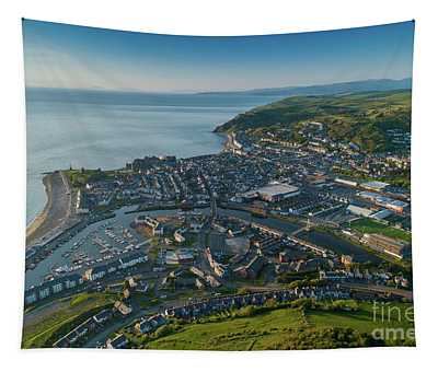 Aberystwyth From The Air Tapestry