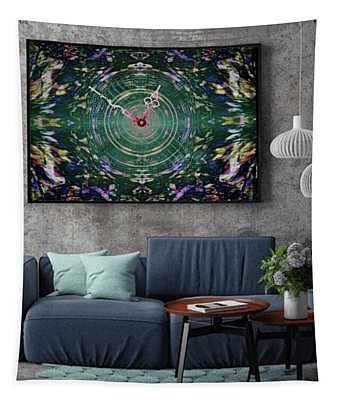 Abstract Cherry Blossom Tapestry