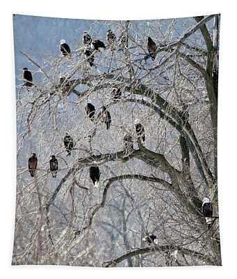 Bald Eagles At Starved Rock Tapestry