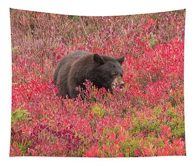 Berries For The Bear Tapestry