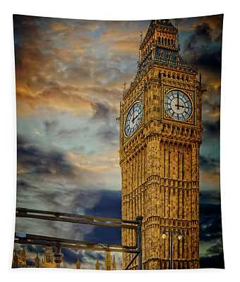 Big Ben London City Tapestry