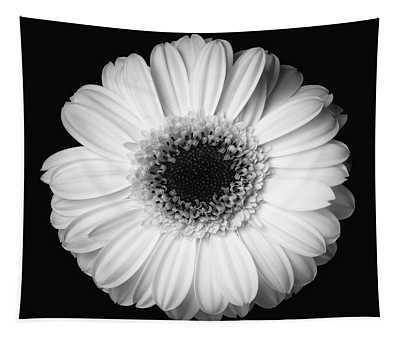 Black And White Flower Tapestry