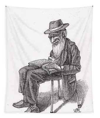 Bookish Man Tapestry