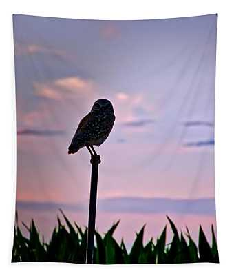 Burrowing Owl On A Stick Tapestry