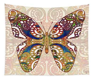 Butterfly Illustration - Transforming Rainbows  - Omaste Witkowski Tapestry