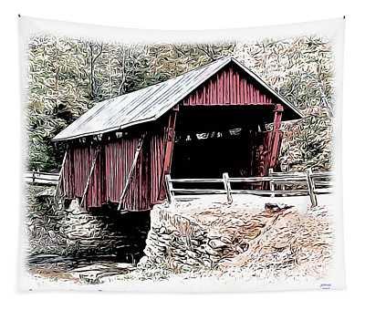 Campbells Covered Bridge Tapestry